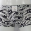 กางเกงในชาย Calvin Klein Boxer Briefs : สีดำ ลายสมอเรือ