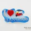 แม่เหล็กติดตู้เย็น ลวดลายรถตุ๊กๆ และข้อความ I Love Bangkok