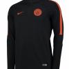 เสื้อแจ็คเก็ตแมนเชสเตอร์ ซิตี้ของแท้ Manchester City Squad Drill Top Black