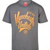 เสื้อแมนเชสเตอร์ ยูไนเต็ด Script T-Shirt - Boys Grey สำหรับเด็กชายของแท้ 100%