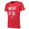 เสื้อทีเชิ้ตอดิดาสแมนเชสเตอร์ ยูไนเต็ด กราฟฟิกทีเชิ้ตสีแดงของแท้