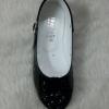รองเท้าคัทชูออกงานเด็กหญิง หนังแก้วสีดำ Size 25 ถึง 36 หมุนเก็บสายรัดข้อเท้าได้