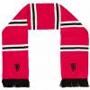 ผ้าพันคอแมนเชสเตอร์ ยูไนเต็ดของแท้ Manchester United Devil Bar Scarf Red Adult
