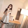 Romantic black&white graphic Dress style korea