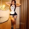 ชุดคอสเพลย์ ชุดสาวใช้สุดฮ๊อต ยามสาวสุดเซ็กซี่ Free Size (Pre order) สีดำ