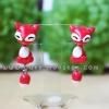 ต่างหูดินปั้น สุนัขจิ้งจอกสีแดง Cutie red fox Earrings