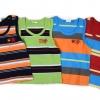เสื้อกล้ามเด็กเล็ก วัย 2-5 ปี ลายริ้ว ปักลายที่อกเท่ๆ
