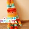 ตุ๊กตา Craft Holic สีลูกกวาดส้ม-ฟ้า ( size L 100cm)