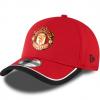หมวกที่ระลึกแมนเชสเตอร์ ยูไนเต็ด 9fifty ของแท้ Manchester United New Era Training 39THIRTY Stretch Back Back Cap - Red - Adult