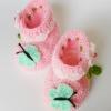รองเท้าบู๊ทเด็กหญิง รุ่นผีเสื้อและดอกไม้