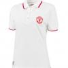 เสื้อโปโลแมนเชสเตอร์ ยูไนเต็ดของแท้ สำหรับสุภาพสตรี Manchester United Tipped Polo Shirt - Winter White - Womens