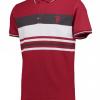 เสื้อโปโลแมนเชสเตอร์ ยูไนเต็ด Manchester United Lifestyle Stripe Polo Shirt Brick Red ของแท้