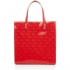 Pre-Order • UK | กระเป๋า Harrods Red Debossed Logo Shoulder Tote Collection