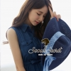 Chic Long Middle Blue Denim Shirt by Seoul Secret