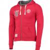 เสื้อฮู้ดแมนเชสเตอร์ ยูไนเต็ดของแท้ สำหรับสุภาพสตรี Manchester United Zip Through Hoodie - Red - Womens