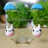 Rainy white bunny