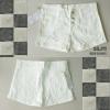 J11) Short Jeans กางเกงยีนส์ขาสั้นผ้ายืด สีขาว