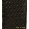 Pre-Order • UK | กระเป๋า Ted Baker Woven Leather Passport And Money Clip Gift Set