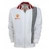 เสื้อแจ็คเก็ตย้อนยุคแมนเชสเตอร์ ยูไนเต็ด แจ็คเก็ตเยือน 1977 สีขาวของแท้
