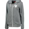 เสื้อฮู้ดแมนเชสเตอร์ ยูไนเต็ดของแท้ สำหรับสุภาพสตรี Manchester United Zip Through Hoodie - Grey Rock Marl - Womens