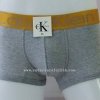 กางเกงในชาย Calvin Klein Boxer Briefs : สีเทา แถบทอง