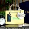zara กระเป๋าถือทรงแข็งสี่เหลี่ยมสีเหลืองอ่อนหวานแหวว