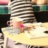 ตุ๊กตา Craft Holic ลายขวางสีเทาขาว ( size L 100cm)