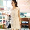 White embroidery see- through Lace Dress style kore