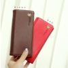 [ พร้อมส่ง ] - กระเป๋าสตางค์แฟชั่น สไตล์เกาหลี สีน้ำตาลเข้ม ใบยาว แต่งกระรอกน้อย งานสวยน่ารัก น่าใช้มากๆค่ะ
