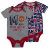 เสื้อผ้าแมนเชสเตอร์ ยูไนเต็ดของแท้ สำหรับเด็กเล็ก Manchester United 2 PK Bodysuits