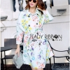 Lady Ribbon's Made Lady Emmie Elegant Spring Floral Coat with Belt