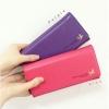 [ Pre-Order ] - กระเป๋าสตางค์แฟชั่น สไตล์เกาหลี สีชมพูเข้ม ใบยาว แต่งนกน้อย งานสวยน่ารัก น่าใช้มากๆค่ะ