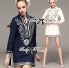 Lady Ribbon's Made Lady Allison Chinoise Embroidered Cotton Shirt Dress