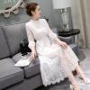Maxi Dress ชุดลูกไม้แขนยาว สีขาว