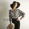 Modern Chic Dot Blouse