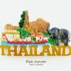 แม่เหล็กติดตู้เย็น ลวดลายเอกลักษณ์ไทย วัสดุเรซิ่น ชิ้นงานปั้มลายเนื้อนูน ลงสีสวยงาม
