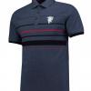 เสื้อโปโลแมนเชสเตอร์ ยูไนเต็ด Lifestyle Stripe Polo Shirt - Denim ของแท้