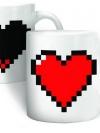 แก้วน้ำร้อน ซ่อนลายหัวใจ Pixel