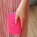 [ พร้อมส่ง ] - กระเป๋าสตางค์แฟชั่น สไตล์เกาหลี  สีชมพูเข้ม ใบยาว(รุ่นใหม่)  แต่งมงกุฎ งานสวยน่ารัก น่าใช้มากๆค่ะ