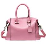 [ พร้อมส่ง ] - กระเป๋าแฟชั่น สไตล์เกาหลี สีชมพูโดดเด่น ทรงหมอนใบกลางๆ ดีไซน์แบรนด์ดังแบบยุโรป แบบสวยเรียบหรู สาวๆห้ามพลาด