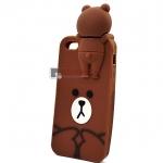 เคสยางครอบหลังหมี Brown iPhone 5/ 5s / 5se