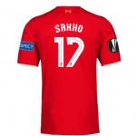 เสื้อลิเวอร์พูลยูฟ่ายูโรป้าลีกรอบรองชนะเลิศ SAKHO 17 ฟรีอาร์ม Respect