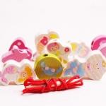 ของเล่นไม้ร้อยเชือก MerMaid สีชมพูน่ารัก สำหรับสาวน้อย