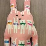 ตุ๊กตาCraftholic กระต่ายสีชมพู (size L 100 ซม.)