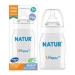 ขวดนม Natur UHappy คอกว้าง ขนาด 4 oz.