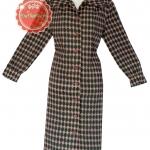 ขายแล้วค่ะD54:Vintage dress เดรสวินเทจลายกราฟฟิคสีเขียวและสีน้ำตาล (Brand Lady Lover ISETAN TOKYO) ! ส่งฟรีค่าาา.. !!&#x2764