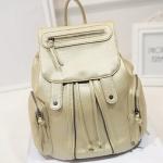 [ พร้อมส่ง ] - กระเป๋าเป้แฟชั่น นำเข้าสไตล์เกาหลี สีทองโดดเด่น สุดเก๋ ดีไซน์สวยเก๋ไม่ซ้ำใคร สวยสุดมั่น เหมาะกับสาว ๆ ที่ชอบกระเป๋าเป้ใบกลางค่ะ