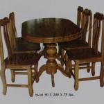 รหัส Maisak00200 ชุดโต๊ะกินข้าวไม้สัก แบบเรียบ 90X200X75 ซม. พื้นโต๊ะหนา 1 นิ้ว เก้าอี้ กว้าง 37 ซม. ยาว 37 ซม. สูง 95 ซม. โต๊ะกลาง กว้าง 90 ซม. ยาว 200 ซม. สูง 75 ซม.
