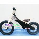 รถจักรยานเด็กเล่นทรงตัว 2 ล้อ รุ่น Speedster-flamechopper สีดำ : แบบไม้ PN003