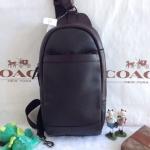 พร้อมส่ง กระเป๋าผู้ชาย COACH LEATHER SLING BACKPACK TABLET BAG F71344
